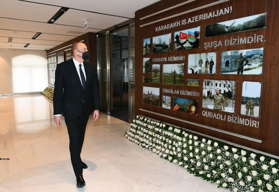 Le président Ilham Aliyev participe à l'inauguration d'un nouveau bâtiment administratif de la Compagnie de navigation maritime de la Caspienne - Gallery Image